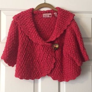Size L Anthropologie cropped sweater